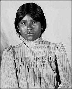 Pima girl, Jennie Wilson. Photographed at Sacaton, Arizona 1902. - National Anthropological Archives, Smithsonian Institution.
