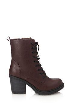 Bottes Style Militaire à Lacets - chaussures et bottes pour Femmes| voir en ligne | Forever 21 - 2000102182 - Forever 21 EU