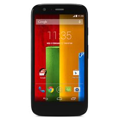 """Moto G 8 GB by Motorola. This smart phone comes with an LCD measuring 4.5 """"which has a resolution of 1280 x 720 HD sheingga able to provide a display screen sharp and crisp. Equipped also with a layer of Corning Gorilla Glass on the outside, which protects the screen from scratches foreign objects around it. http://www.zocko.com/z/JKQ7x"""