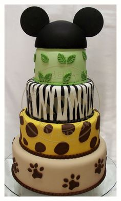 Safari Mickey Mouse Cake