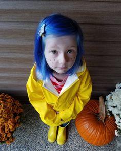 A little #Dyehard! @embot9000 gave her cutie pie #RockabillyBlue hair for her #Coraline  Halloween costume!