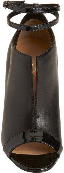 Christian Louboutin Peep Toe Ankle Boots - Lyst