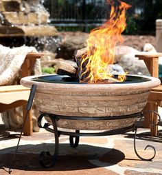 Old Frontier Brick Magnesia Fire Pit 30 Inch