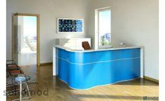 #Wave Storage Counter #Reception #Desk by #MDD #Office #Furniture