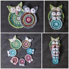 Crochet owl for decorated children room