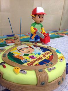 Torta 2do año de Arturo con motivo de Manny