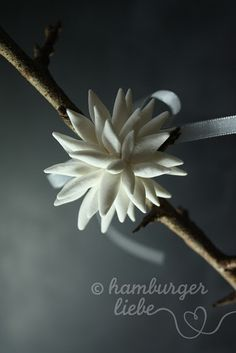 Flower made from air-drying clay