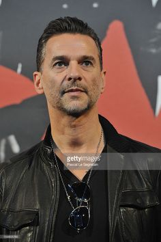 Singer of 'Depeche Mode' band Dave Gahan poses during a photo call during a Press Conference at La Gaite Lyrique on October 23, 2012 in Paris, France.