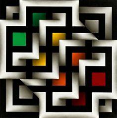 Biografia de Omar Rayo. Coleópsama Artis X (1992) Illusion Kunst, Illusion Art, Dot Art Painting, Painting Patterns, Op Art, Optical Illusion Quilts, Colombian Art, Abstract Geometric Art, Art For Art Sake