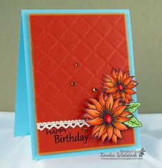 Coloring Tutorial: Always Autumn - stampTV; Kendra Wietstock used Spectrum Noir pens to color the flowers