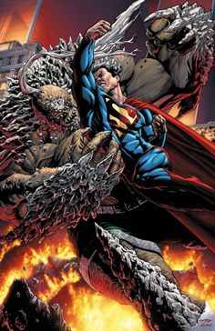#Superman #Fan #Art. (Superman vs Doomsday) By: BlondTheColorist. (THE * 5 * STÅR * ÅWARD * OF: * AW YEAH, IT'S MAJOR ÅWESOMENESS!!!™)[THANK U 4 PINNING!!!<·><]<©>ÅÅÅ+(OB4E)