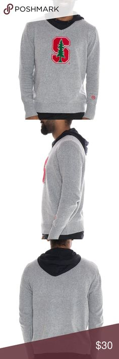 Mens Stanford Cardinals V-Neck Sweater New With Tags! Alma Mater Sweaters V-Neck