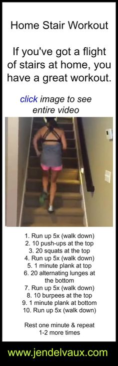 don't forget to repin! #jendelvaux #staircase #workout
