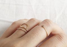Stackable Ring Silver, Alternative Ring, Wedding Band Minimalist, Dainty Ring Band, Stacking ring Gift for Her Teen Birthday Friendship Dainty Gold Rings, Gold Plated Rings, Delicate Rings, Dainty Jewelry, Jewelry Box, Jewelry Accessories, Fashion Accessories, Ringe Gold, Hand Chain