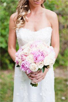 light pink wedding bouquet