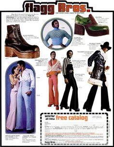 Men's 70s fashions