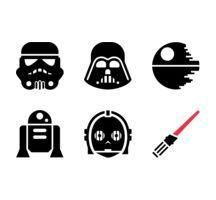 You do not have to go to a galaxy far far away to look for special Star Wars Gifts. Star Wars Silhouette, Silhouette Clip Art, Silhouette Cameo Projects, Silhouette Design, Star Wars Birthday, Star Wars Party, Aniversario Star Wars, Star Wars Painting, Images Star Wars