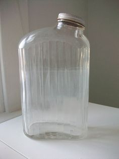 interesting shape to this glass container.
