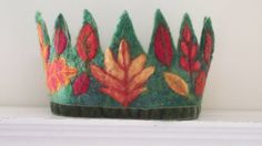 Autumn Leaves Waldorf Birthday Crown by SusannaW on Etsy