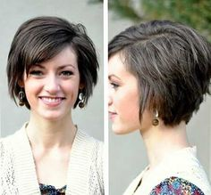 I really wish i had the guts to cut my hair short! This is cute!