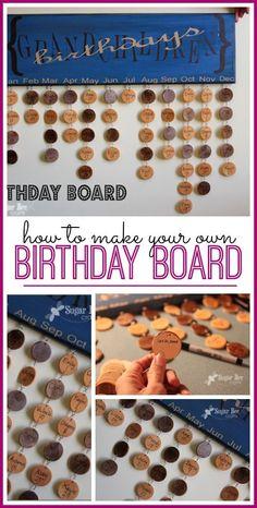 Birthday Board - Sugar Bee Crafts