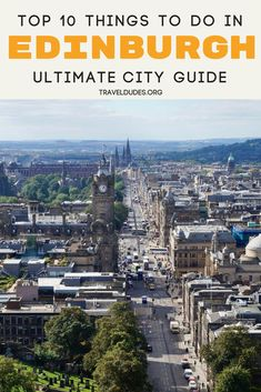 The ultimate travel guide of all the best things to do in Edinburgh. Visit the place JK Rowling wrote Harry Potter, grab some lunch and eat your food in the midst of a castle, or challenge yourself to a more difficult hike than Royal Mile and hit the trail at Carlton Hill. Travel in Edinburgh, Scotland. | Travel Dudes Travel Community #Edinburgh #Scotland