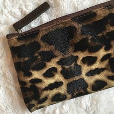 Laura Mercier Leopard Makeup Bag Used 3X - Small LM Makeup Bag Sephora Bags Cosmetic Bags & Cases