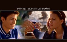 the moment in which tv's best couple began. love naley.