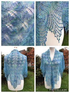 Stunning shawl designed by Kristi Holaas and knitted by my customer Rosina using Perran yarns Heavenly Lace handdyed yarn in shade Morgawr Knitted Shawls, Lace Knitting, Silk Ribbon, Beaded Lace, Wool Yarn, Yarns, Heavenly, Etsy Seller, Textiles