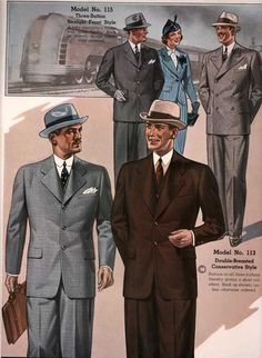 Men's Fashion Trend Setters of the 1950's - Towne and Travel
