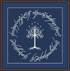White Tree of Gondor cross stitch pattern by CrossStitchForYou