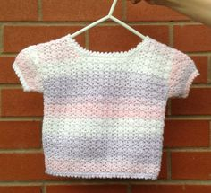 Crocheted Jumper Baby Jumper Girl's Jumper by FlutterbyTextiles Crochet Jumper, Crochet Top, Baby Jumper, Girls Jumpers, Crochet Girls, Lilac, Pink, Handmade Crafts, Toddler Girl
