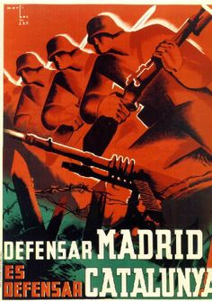 Wee Blue Coo War Propaganda Spanish Civil Madrid Catalonia Spain Anti Fascist Unframed Wall Art Print Poster Home Decor Premium Poster S, Party Poster, Madrid, Propaganda Art, Political Posters, Travel And Tourism, Civilization, Vintage Posters, Dieselpunk