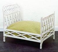 Antique White Iron Dog Bed