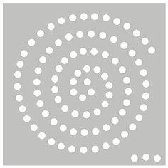 funky spiral stencil swirls and spirals cookie. Black Bedroom Furniture Sets. Home Design Ideas