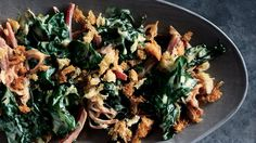 Unlike a heavy béchamel, this streamlined cream sauce won't mask the earthy-sweet flavor of the Swiss chard; lemony breadcrumbs add a crunchy, tangy foil.