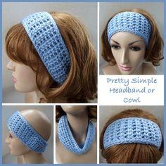 Pretty Simple Headband or Cowl ~ FREE Crochet Pattern