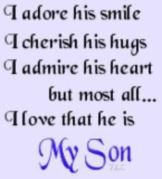 39 Best I Love My Son Images Sons I Love My Son Frases