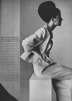 Vogue, March 1964. Photo by Irving Penn.