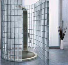amazing glass partition design with scratch resistant Glass Partition Designs, Glass Partition Wall, Parisian Bathroom, Modern Bathroom, Glass Block Shower, Douche Design, Glass Brick, Tiny House Cabin, Glass Bathroom