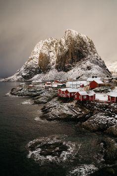"""Morning at # Lofoten "" by Pauli Haanpää on 500px | #landscapes #nature #villages #Norway"