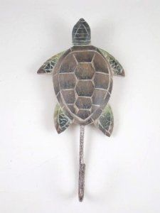 "Tropical Reef Sea Turtle Single Wall Hook Hanger by !iT Jeans. $12.88. Approximately 5.75"" x 3"". Hand carved, hand painted. Made of wood - Metal Hook. Tropical Island Sea Turtle Single Wall Hook Hanger Peg"