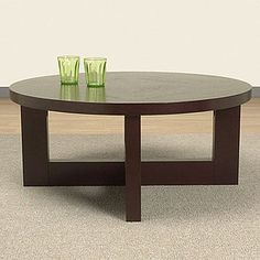 [round coffee table on Overstock]