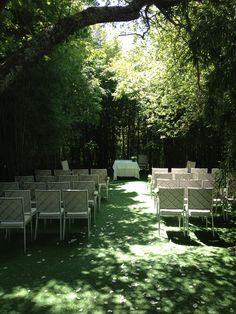 Increible bosque de bambús para celebración de bodas en  A QUINTA  DA AUGA