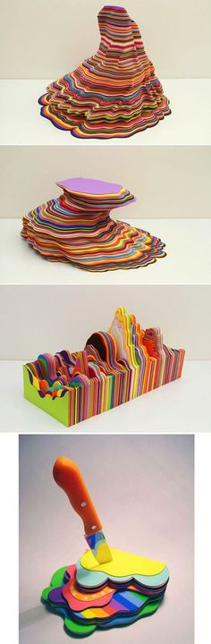 Foam Sculptures | 31 Works Of Art We Can All Appreciate -- All of her sculptures are just so, so cool. By Ana Bidart.