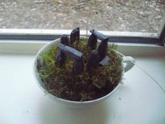 Pictish Stones and Stonehenge in a teacup - POTTERY, CERAMICS, POLYMER CLAY