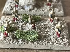 Advancing DAK infantry. Figures are early GHQ micro armour.