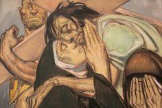 Jésus rencontre sa mère, Chemin de Croix - Jean-Georges Cornelius