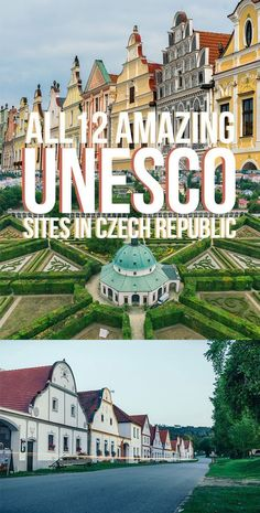 Czech Republic UNESCO Sites You Can't Miss - All 12 UNESCO World Heritage Sites in the Czech Republic that you have to check out for yourselves! Europe Travel Tips, European Travel, Travel Destinations, Czech Republic Destinations, Budget Travel, Travel Guide, Prague Travel, Prague Tours, Prague Czech Republic