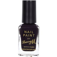 River Island Nightshade black Barry M nail polish (12 BRL) ❤ liked on Polyvore featuring beauty products, nail care, nail polish, nails, makeup, beauty, cosmetics, gifts and river island